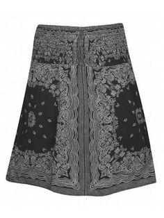 I dig this skirt.  Love the bandana print.
