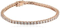 "Myia Passiello Essentials Swarovski Zirconia Rose Gold Tennis Bracelet, 7.25"" Myia Passiello http://www.amazon.com/dp/B00PC2A9HU/ref=cm_sw_r_pi_dp_pyQnvb168VXB6"