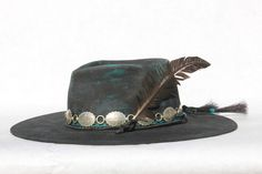 Super Customized Hand Painted and Distressed Rambler ~ A Lone Hawk Favorite Knit Hat For Men, Hat For Man, Fashion Boots, Mens Fashion, Rocker Fashion, Style Fashion, Mens Western Hats, Emo Dresses, Party Dresses