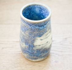 ntpdesigns small hand-thrown vase with speckled glossy glazing