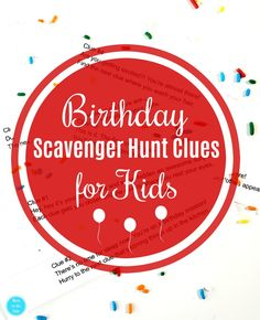 Printable Birthday Scavenger Hunt Clues for Kids (Lead to Their Present) - Easter diy kids - Yorgo Scavenger Hunt Riddles, Easter Scavenger Hunt, Halloween Scavenger Hunt, Scavenger Hunt Birthday, Scavenger Hunt For Kids, Treasure Hunt Birthday, Indoor Birthday, Birthday Fun, Birthday Morning