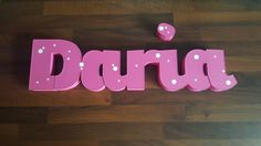 Daria - 3d baby name set hand painted and decorated with vinyl kids room decoration fantastic gift available from www.lemonsigns-shop.com