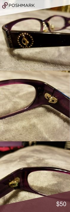 AUTHENTIC KIDS BABY PHAT EYEGLASSES  AUTHENTIC BABY PHAT EYE GLASSES!   PERFECT FOR AN OLDER CHILD WHO NEEDS A FASHIONABLE PAIR OF SECOND EYES!!  THEY ARE DARK PURPLE WITH THE BABY PHAT SYMBOL ON BOTH SIDES.   Baby Phat Accessories
