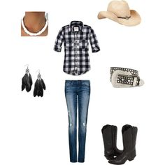 Country Music Concert, created by danidt20 on Polyvore