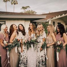 Mix + match different shades for all your maids #mumuweddings