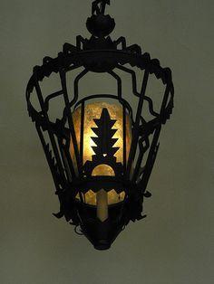 Light fixture details, Ahwahanee Hotel, Yosemite National park, CA