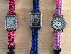 Paracord Watch Bracelets  made to order by JNPsStringsNThings, $30.00 - these are made amazingly well!!!