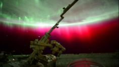 A rare red aurora, as seen by Astronaut Scott Kelly from the International Space Station. Scott Kelly, Astronauts In Space, International Space Station, Thing 1, Natural Phenomena, Science And Nature, Science Space, Terra, Bow Braid