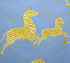 Scalamandre Zebra Wallpaper // Periwinkle
