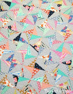 Confetti Quilt, pattern by Tied with a Ribbon, fabrics are by Melody Miller for Cotton and Steel