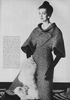 Tweed sheath and jacket - August Vogue 1959