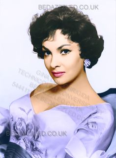GINA LOLLOBRIGIDA TECHNICOLOR CONVERSION BY BEDAZZZLED FROM B/W PRINT Hollywood Divas, Hollywood Stars, Classic Hollywood, Gina Lollobrigida, Iconic Women, Famous Women, Female Actresses, Actors & Actresses, Most Beautiful Women