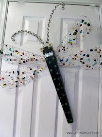 Lucy Designs: Jeweled Glass Beaded Wire Wing Dragonfly and How to Make It