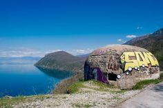 concrete bunkers Albania