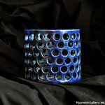 Ceramic openwork flowerpot for orchid. Blue version. Ceramiczna ażurowa doniczka na storczyka. Wersja niebieska.