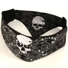 Amazon.com: Chop Top Bandana Head Doo Wrap Scarf Biker Rocker Skull: Clothing