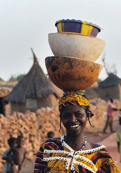 Africa | Woman photographed in the village of Songha, Dogon Country, Mali | ©Hansjoerg Klein