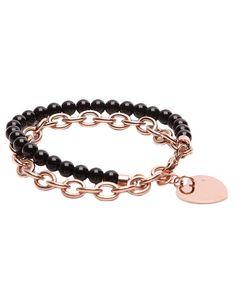 18ct rose gold-plated bracelet - Chloe Collection by Liv Oliver