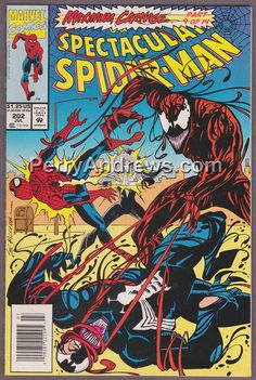 SPIDER-MAN Complete Set of 14 Signed by Artists Maximum Carnage Limited Edition Collector Dynamic Forces Published May 1993 by Marvel Marvel Comic Books, Marvel Characters, Comic Books Art, Comic Art, Comic Superheroes, Book Art, Amazing Spiderman, Spiderman Maximum Carnage, Sal Buscema