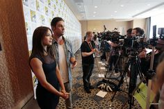 Kristin Kreuk & Ryan Jay at the BEAUTY AND THE BEAST Press Room at Comic-Con 2012. (©2012 CBS Broadcasting Inc. All Rights Reserved.)
