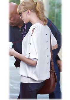 White Plain Buttons Half Sleeve Wrap Chiffon T-Shirt