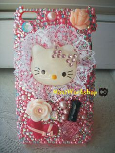 Custom Made Bling iPhone 4/4S case by mimiworkshop on Etsy, $32.00