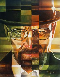 Walter White by Tim Rogerson in Orlando, FL Walter White, Breaking Bad 2, Bad Memes, Human Head, Heisenberg, Film Music Books, Best Tv Shows, Movies Showing, Call Saul