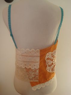 Brown/Orange/Hippie/Floral/Lacy/Tank by AjasPlace on Etsy