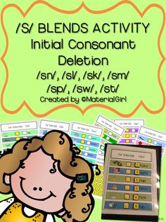 """Speech Therapy Articulation /s/ blend activity that targets initial consonant deletion, as in """"pot"""" for """"spot."""" #speechtherapy #articulation #sblend"""