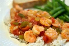 SHRIMP CREOLE * Peppers * Touch of Curry * HERBS * Touch of Heat * serve over rice ** FAST & EASY **