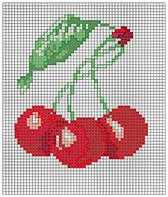 Cross-stitch Cherries