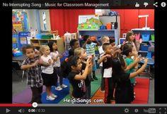Gestion de classe  A bite size classroom management song to address interruptive behavior!