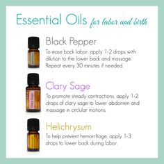 essential oils for labor and delivery.