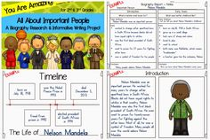Biography Report ~ Great for Living Museum or Wax Museum
