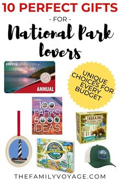 Wondering what to buy for the adventurer in your life? Check out these perfect gifts for National Parks lovers to find something to delight them! There are gift ideas for all budgets including… Travel List, Travel Advice, Budget Travel, Travel Guides, Travel Hacks, Best Travel Gifts, Best Gifts, National Park Gifts, Experience Gifts