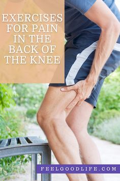 How to Treat Pain In The Back of The Knee With a Towel | Feel Good Life Quad Muscles, Major Muscles, Calf Muscles, Knee Strengthening Exercises, How To Strengthen Knees, Knee Pain Relief, Leg Cramps