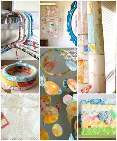 Vintage linens ... 20 ways to repurpose and upcycle sheets, hankies, embroideries etc. OMG, I'm going to do this with a bunch of embroidered items I inherited from my great-grandmother!