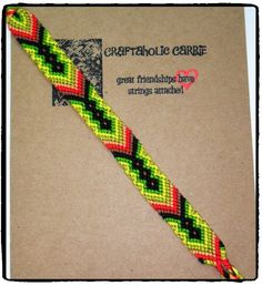 Native Woven Friendship Bracelet #23549 by CraftaholicCarrie on Etsy