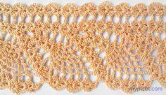 Pineapple Edging:  MyPicot | Free crochet patterns