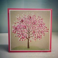 www.chloscraftcloset.blogspot.com.au - Stampin' Up!, Seasonal Sheltering Tree
