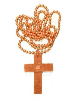 "$14.99+S/H Includes 24"" Copper Bead-Chain. Riveted Copper Cross DobezDesignz.com,http://www.amazon.com/dp/B00DA8XQSW/ref=cm_sw_r_pi_dp_xGeTrb1B568A4A8D"