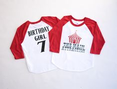 Circus birthday party circus themed shirt circus by Our5loves