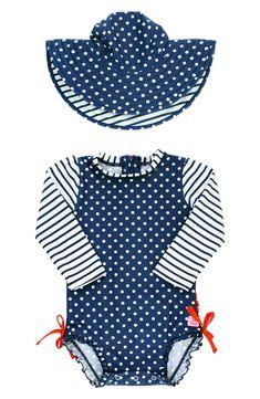 24M Common Purpose Baby Girls Traditional UPF50 Short Sleeve Sunsuit