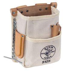 Klein Tools Linemans Electricians 5-Pocket Canvas Tool Storage Bag Pouch #KleinToolsInc