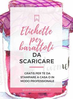 Come creare etichette per barattoli gratuite da scaricare - etichette editabili #printables #organizzazione #decluttering #stampabiligratis #printables #declutteringitaliano #declutteringita #puliziedicasa Printable Tags, Printable Paper, Free Printables, Konmari, Party Food Labels, Create Labels, Diy And Crafts, Paper Crafts, Xmax