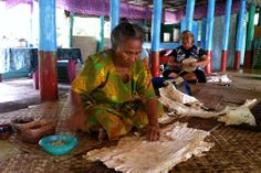 Handmade Samoa Siapo Making.