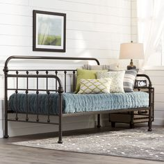 Perfect for creating an afternoon lounge area or instant guest room, this metal daybed makes a stylish addition to your living room or den.