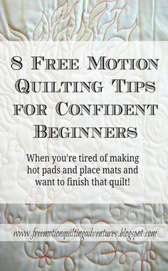 Tips for better looking machine quilting and ideas you can use when quilting your first major project.
