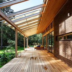 .Beautiful covered porch/pergola with timber and laserlite