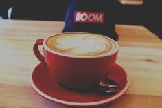 Trim Flat White at Golden Sands Browns Bay for Project BOOM! Coffee. 48 Clyde Rd, North Shore 0630